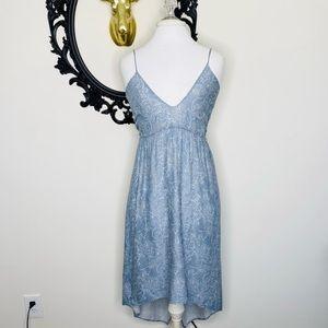 BLACK SWAN Blue Print Strappy Summer Midi Dress